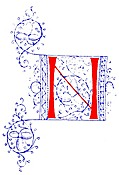 Decorative initial letter N from fifteenth Century Nos. 4 and 5.
