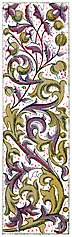 [picture: Gold and Purple Medieval Foliated Border, Vertical]