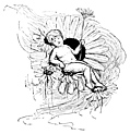 Boy Fairy Resting on a Flower