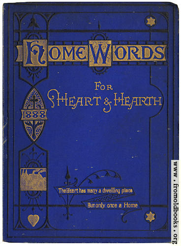[Picture: Front cover for Home Words]