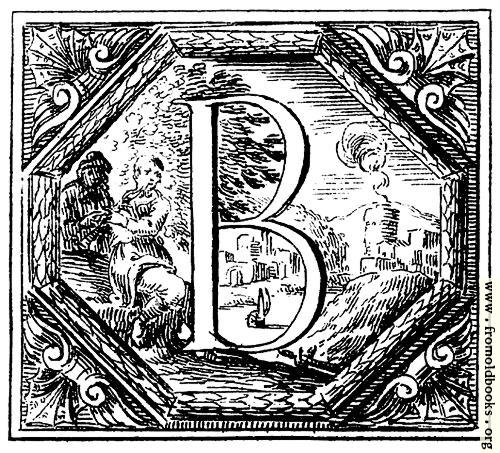 [Picture: Decorated (Historiated) initial letter B by Valerio Spada]