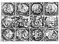 Valerio Spada: Historiated Alphabet, 1656 1659 [A-M]