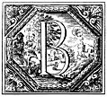 Decorated (Historiated) initial letter B by Valerio Spada