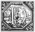 Decorated (Historiated) initial letter D by Valerio Spada