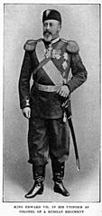 King Edward VII. in his uniform as colonel of a Russian regiment.