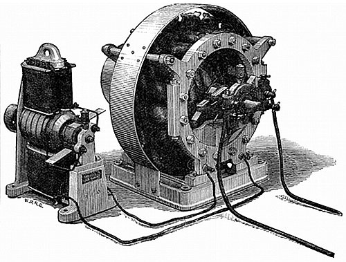 Figs  15 and 16 —Showing Siemens' Alternate Current Dynamo, with its