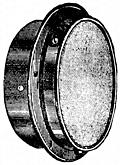 Fig. 60.Bulkhead Fitting for Lighting two Cabins with one Lamp.