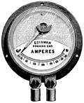 Fig. 95.—Showing Edison-Swan Ampère Meter.