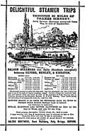 Advert: Delightful Steamer Trips