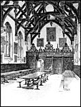 XXIV.—Wadham College, The Hall Interior (greyscale version)