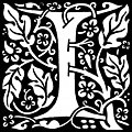 [picture: decorative letter ``I'']