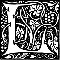 [picture: Decorative initial L]