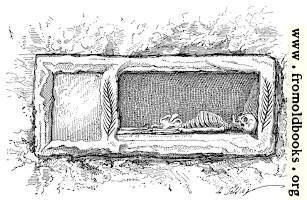 Fig. 41.—Un loculus ouvert. (A loculus, or Roman tomb, open.)