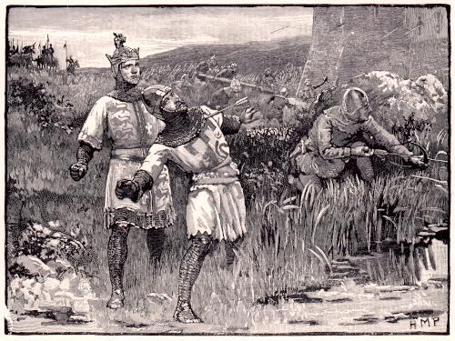 Crusaders attacking a castledetails