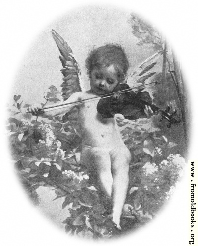 Music: detail: cherub with violin