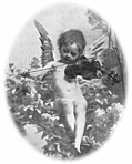 Music: detail: cherub with violin