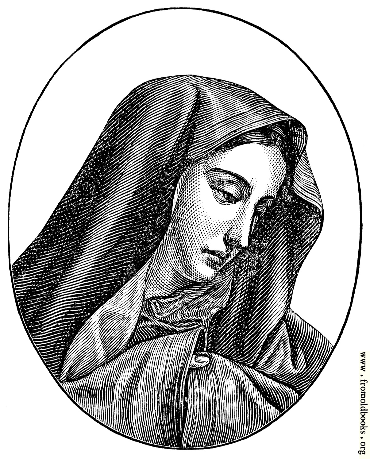 Line Drawing Virgin Mary : The virgin mary