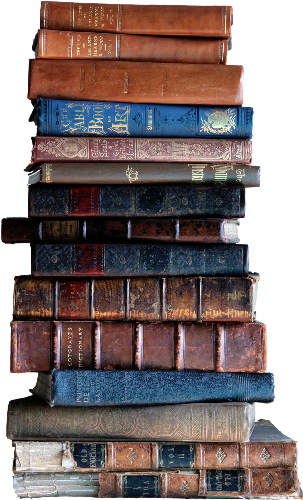 Stack of old booksdetails