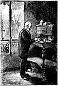 Victor Hugo at his writing desk