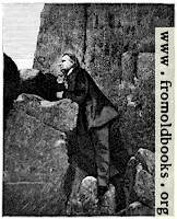 [picture: Victor Hugo amongst the rocks at Jersey]