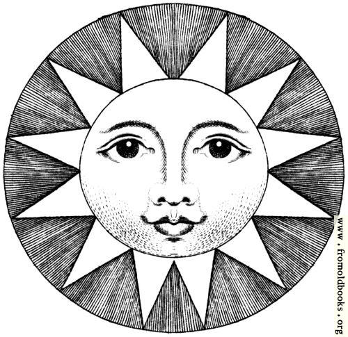 [Picture: Plate XLIII.—Astronomy.—Detail– Smiling Sun.]