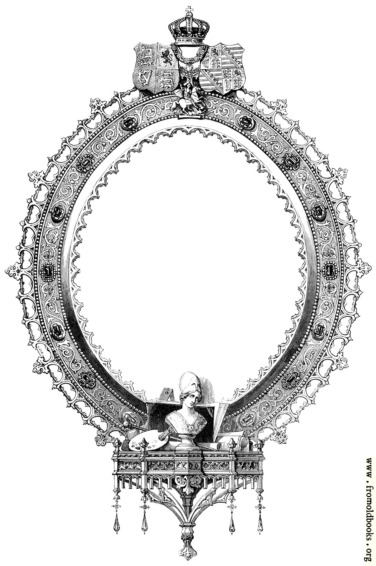 [Picture: Oval or Elliptical Victorian Frame]