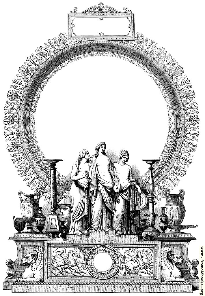 [Picture: Cartouche with Sculpture, Art and Architecture]