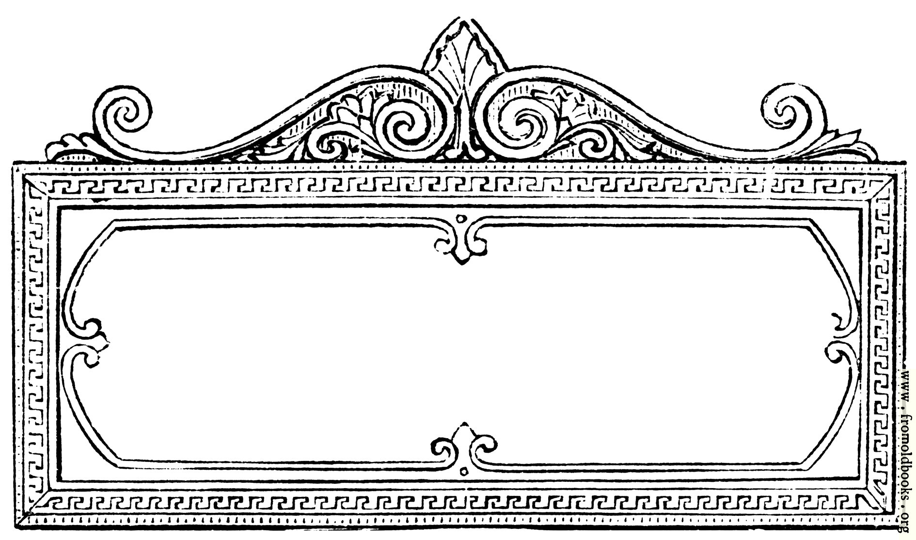 [Picture: Ornate Rectangular Frame]