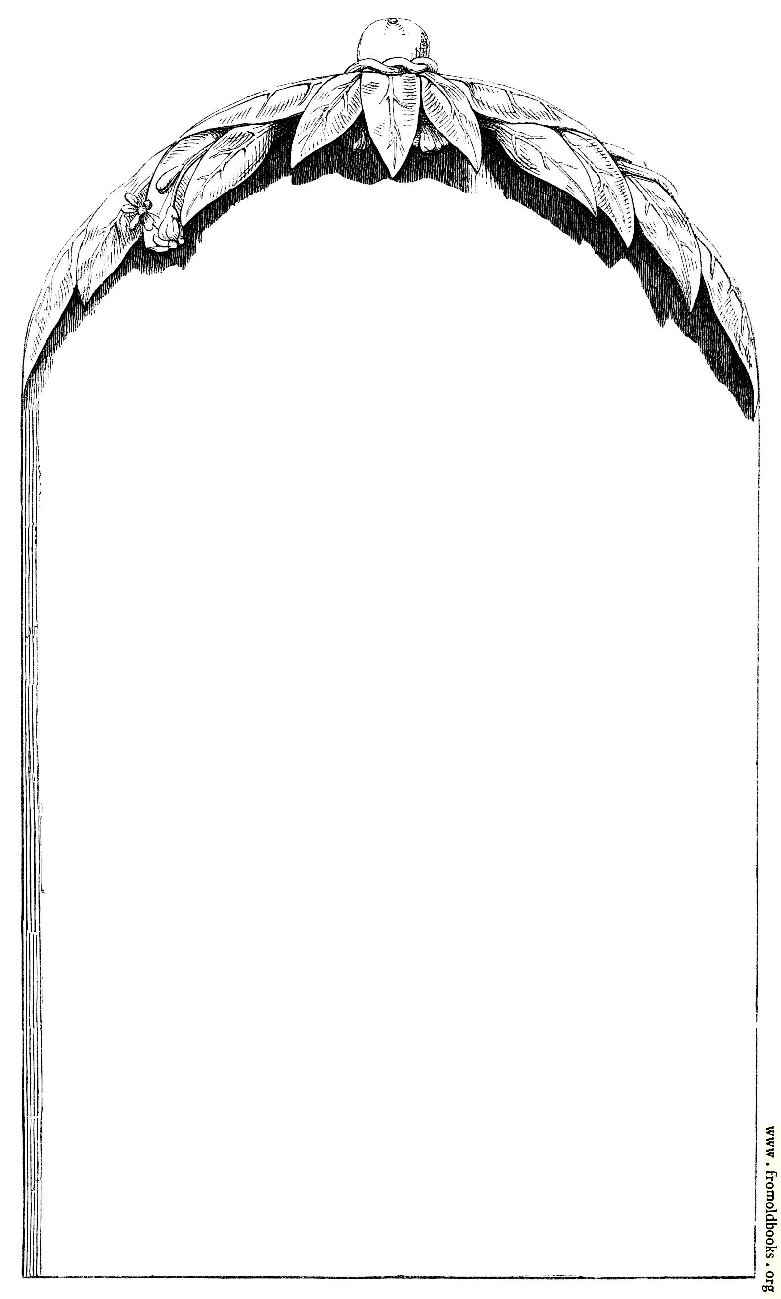 [Picture: Rustic victorian border with 3d canopy design]