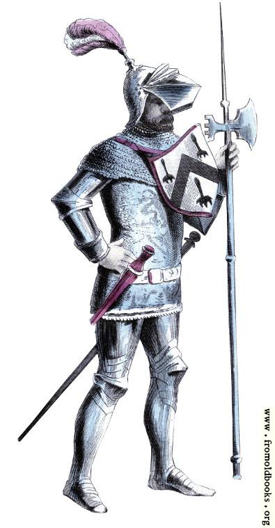 [Picture: Costume of Fifteenth Century Pikeman]