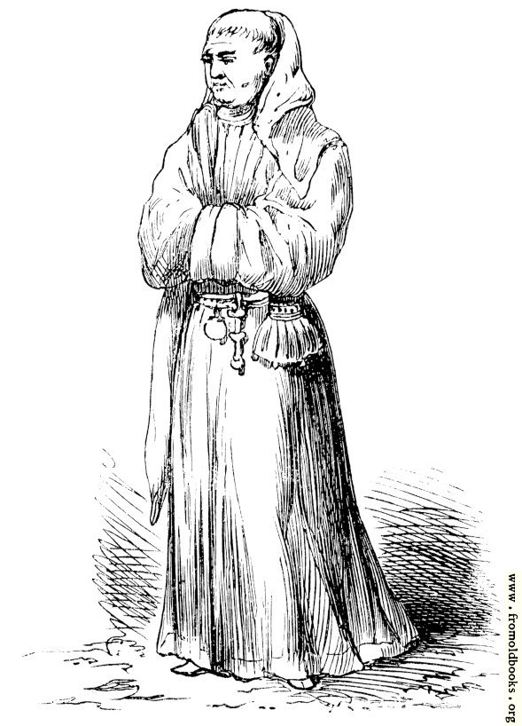 [Picture: Monk's Walking Dress of the Middle Ages]