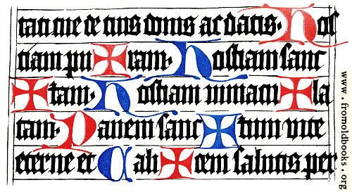 [Picture: Specimen of the Würzburg Missal.  Written about 1470 or 1480.]