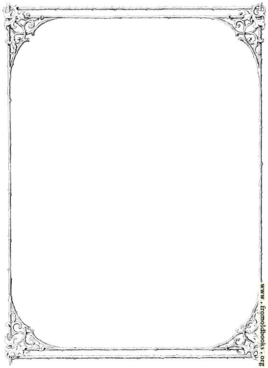 [Picture: Free clip-art: Victorian border of twigs and leaves (simplified version)]