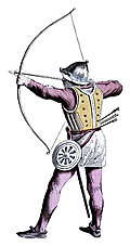 [picture: Costume of Fifteenth Century Bowman]