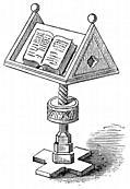 [picture: Reading Desks. MS. Bodleian Library. (detail)]