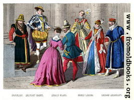 [picture: Costumes 1550--1580.]