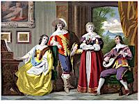 [Picture: Cavalier Costumes, Time of Charles II. A.D. 1670.]