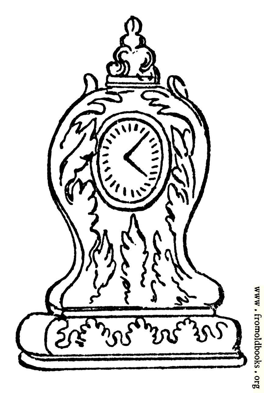 [Picture: Queen Anne Clock]