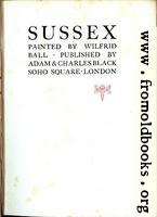 [picture: Title Page, Ball on Sussex]