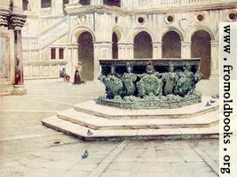 [picture: 63.---Bronze Well-Head by Alberghetti---Courtyard of the Palazzo Ducale.]