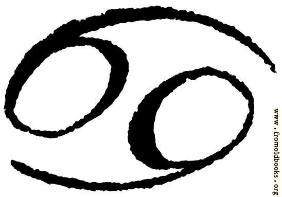 [Picture: Astrological symbols for Monday: Zodiac Sign Cancer]