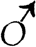 [Picture: Astrological symbols for Tuesday: Planetary Sign for Mars]