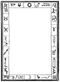 [picture: Full Page Border With Alchemical And Zodiacal Symbols and Signs]