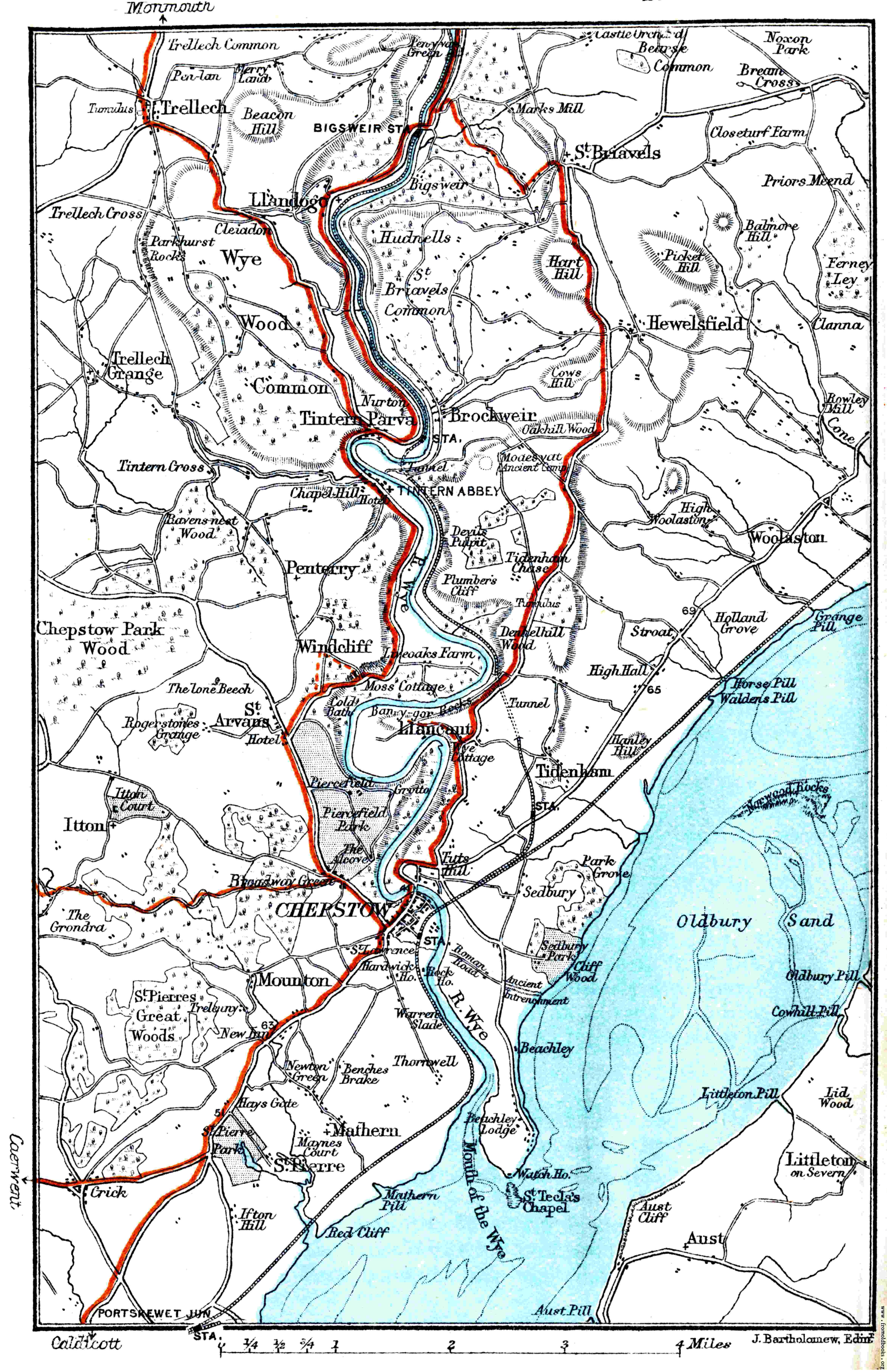 Map river wye chepstow etc 4689x7259 957k jpg free download gumiabroncs Choice Image