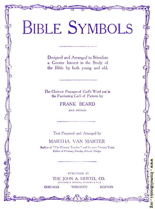 [Picture: Bible Symbols Title Page]