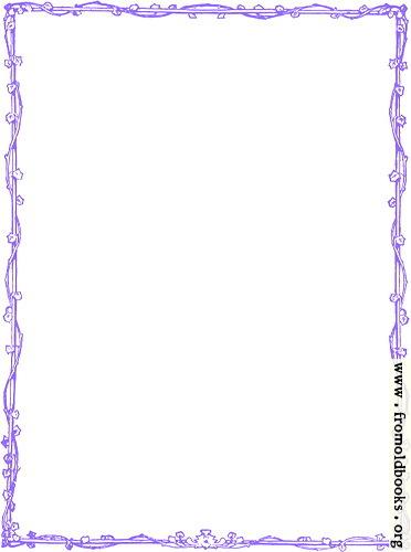 [Picture: Purple Victorian Vine-leaf Border]