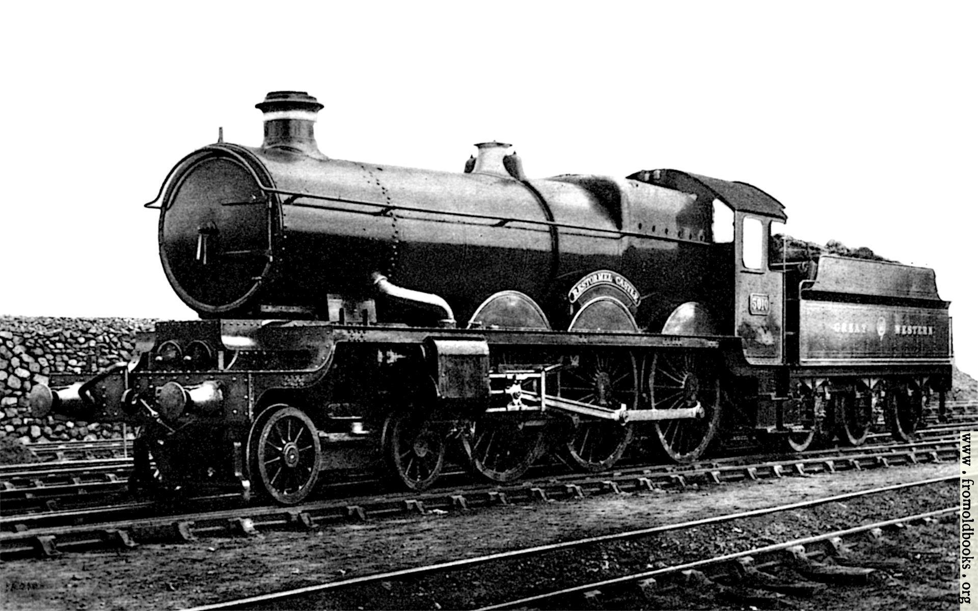 [Picture: Frontispiece: Restormel Castle Steam Locomotive, GWR]