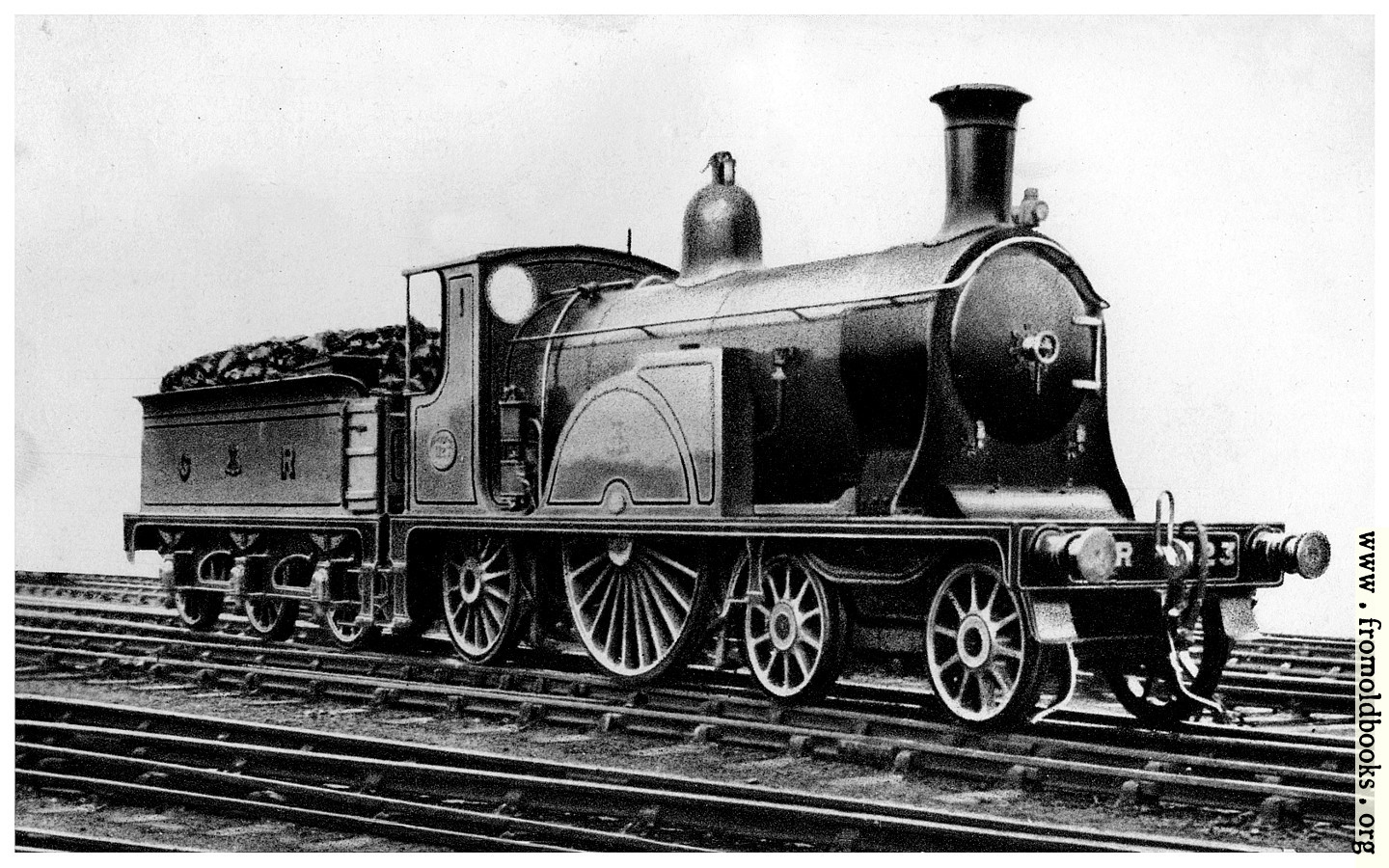 [Picture: 9.—7ft Single Express Locomotive, No. 123]