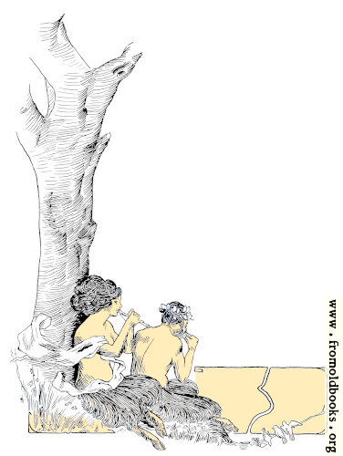 [Picture: Maenad and Faun Full Page Border]
