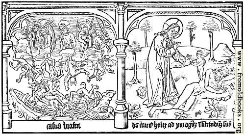 [Picture: From the Biblia Pauperum. Block Book. 15th Century.]